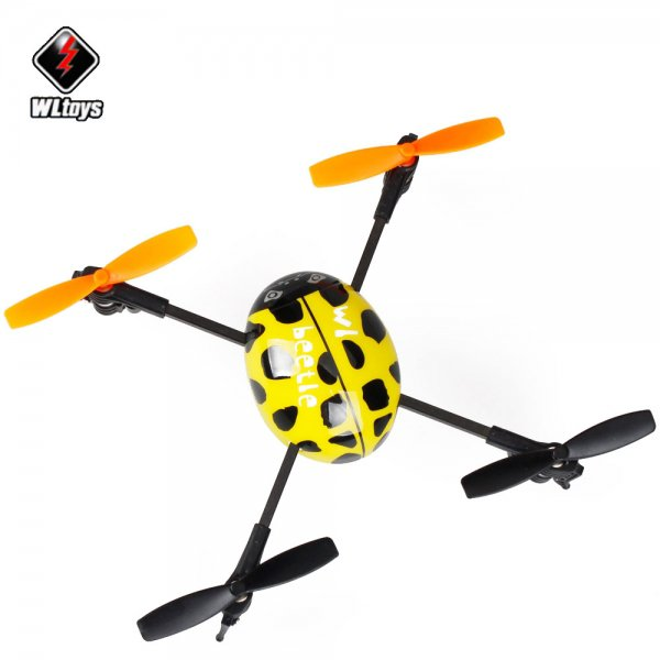 Wltoys V939 2.4GHz 4 Channel 4 Axis RC Quadcopter UFO Yellow