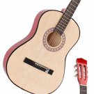 """Beginner 38"""""""" Folk Acoustic Guitar Set with Accessories Natural Color"""