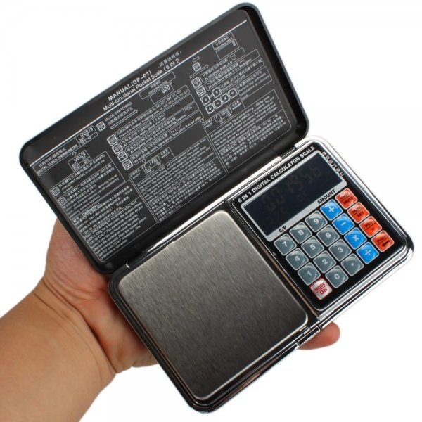 """2"""""""" LCD 200g x 0.01g Portable Pocket Jewelry Scale & Calculator DP-01"""