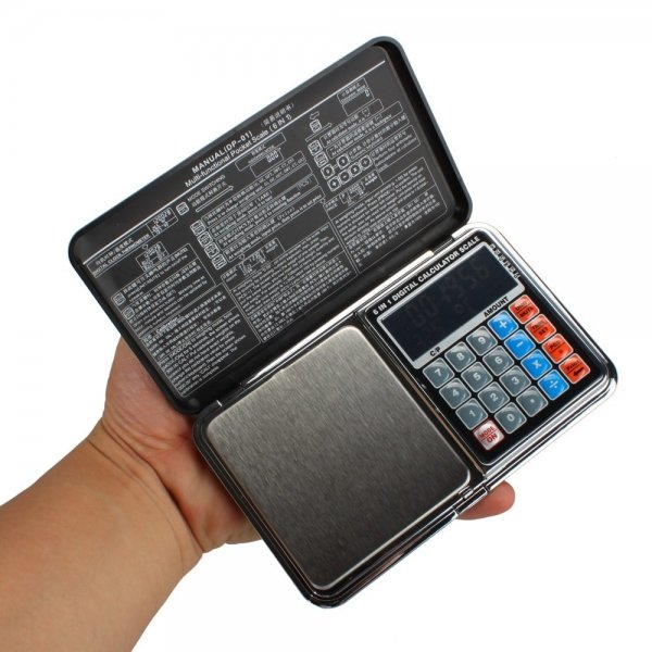 """2"""""""" LCD 100g x 0.01g Portable Pocket Jewelry Scale & Calculator DP-01"""