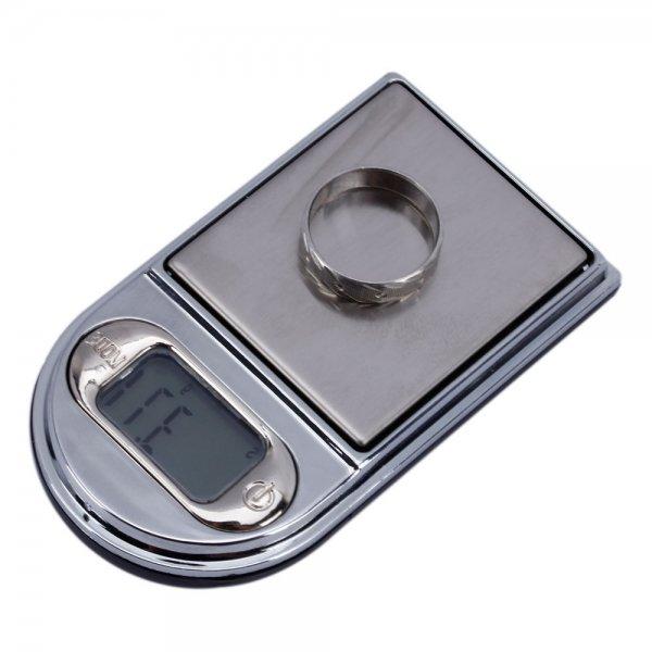 200g x 0.01g Lighter Style Portable Digital Pocket Jewelry Scale 9015 Black