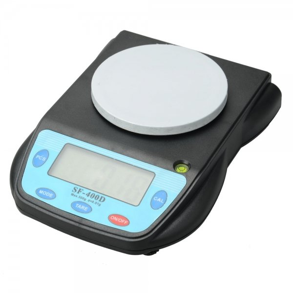 SF-400D 500g / 0.01g Electronic Scale Black & Blue