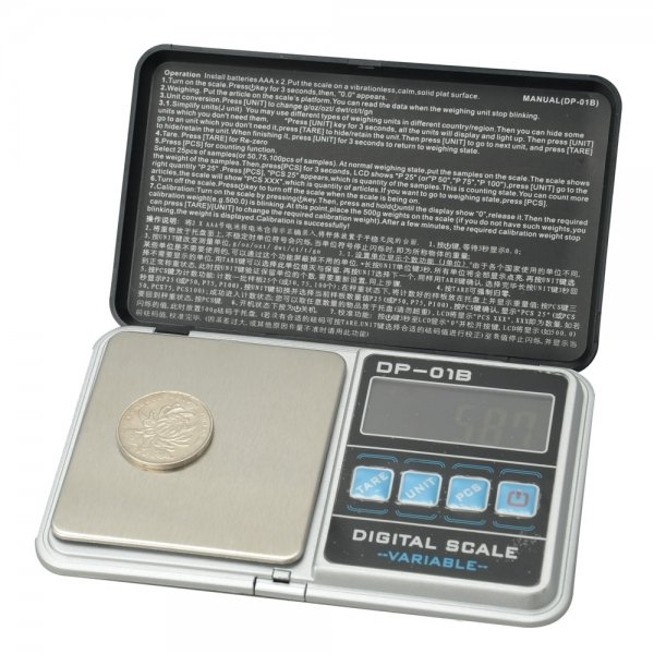 DP-01B 200g 0.01g Jewelry Electronic Scale with Bag Black