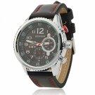 CURREN 8179 Cool Black Dial Waterproof 3-Pointer Silver Alloy Watchcase Men's Wrist Watch