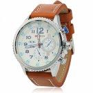 CURREN 8179 Cool White Dial Waterproof 3-Pointer Silver Alloy Watchcase Men's Wrist Watch