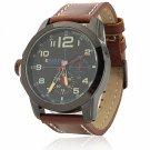 CURREN 8182B 3 Needles Scale Black Alloy Case Waterproof Male Wrist Watch