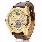 CURREN 8182B 3 Needles Scale Golden Alloy Case Waterproof Male Wrist Watch
