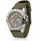 NAVIFORCE 9021 Casual Taste Watchcase Male Waterproof Wrist Watch with Army Green Canvas Watchband