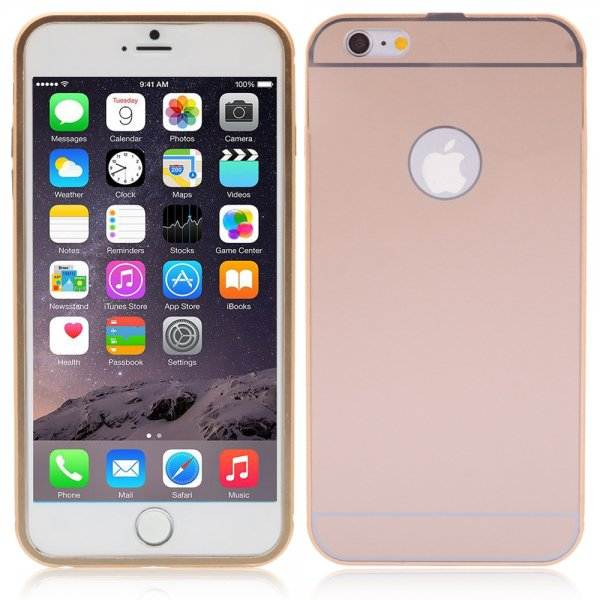 Luxury Aluminum Ultra-thin Mirror Metal Case Cover for iPhone 6 Plus/6S Plus Golden
