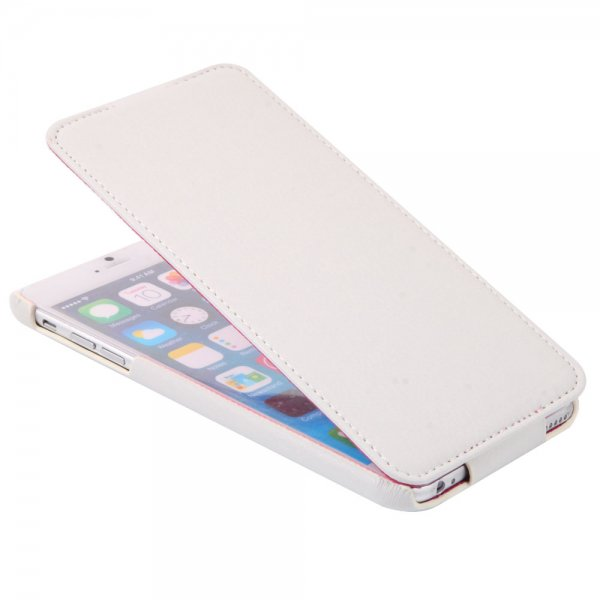 Up-Down Flip Embossing Leather Protective Case for iPhone 6 Plus/6S Plus White
