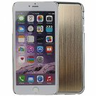 """Wire Drawing Titanium Alloy Back Protective Case for 5.5"""""""" iPhone 6 Plus/6S Plus Golden"""