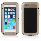 Waterproof Shockproof Aluminum Glass Metal Case Cover for iPhone 6/6S Golden