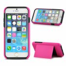 """2-in-1 Smart Plastic Cardcase Protective Case for 4.7"""""""" iPhone 6/6S Rose Red"""