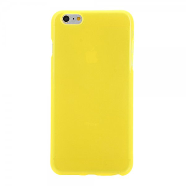 Jelly Style TPU Protective Case for iPhone 6 Plus/6S Plus Yellow