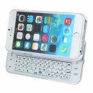 Mini Side Slide Wireless Bluetooth Keyboard for iPhone 6/6S White