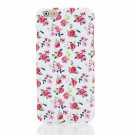 Pink Flowers Pattern TPU Nature Series Glitter Protective Case for iPhone 6 Plus/6S Plus