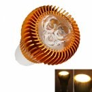 GU10 6W 3 LED 3500K Warm White Spotlight Bulb Gold (110V-240V)