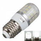 E27 5W 400 Lumen 6000K White Light Corn Light with Silver Side Stripes Cover (220V)