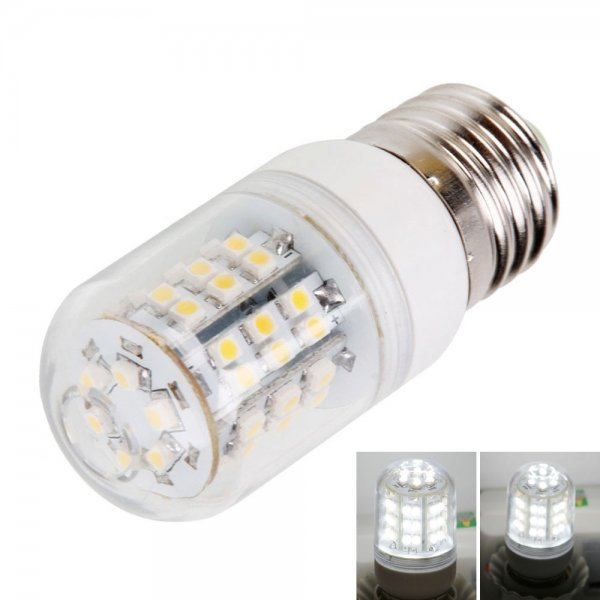 E27 3.6W 48LED 240LM 6000k White Light Corn Light with Transparent Cover (200-240V)