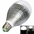 E27 12W 960-1080LM 5500-6500K High-power White Light LED Light Bulb Silver Fins (85-265V)