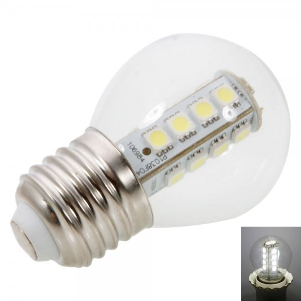 E27 3W 18LED 170LM SMD5050 6000-6500K White LED Light Ball Bulb ( AC 220V)