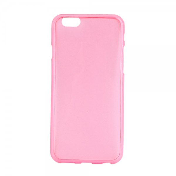 Ultra-thin Glossy TPU Protective Case for iPhone 6/6S Transparent Pink(4.7