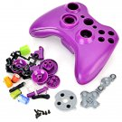 ABS Replacement Full Housing Case/Buttons/Screws/Conductive Gels for Xbox 360 Wireless Controller