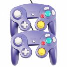 2Pcs Wired Controller for Nintendo GameCube Indigo