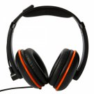 Deluxe Wired Stereo Headset for PS4 & Cellphone Black & Orange