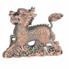 Creative Chinese Dragon Shape Windproof Cigarette Lighter Red Copper