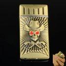 Skeleton Style Straight Fling Alloy Cigarette Lighter Bronze