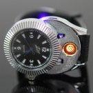2in1 USB Recharing Heating Wire Black Wrist Watch Cigarette Cigar Lighter
