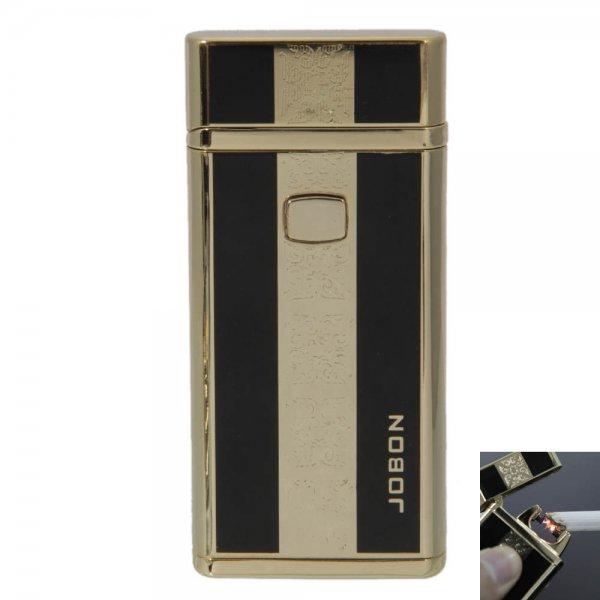 Flameless USB Charging Windproof Pulse Arc Cigarette Cigar Lighter Golden & Black
