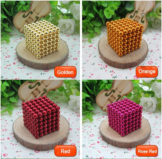 216pcs 5mm DIY Buckyballs Neocube Magic Beads Magnetic Toy (16 Colors)