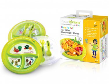 Show �N Tell Nutrition Start-Right Plate Sets (Set 2)