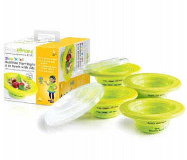 Show �N Tell Start-Right 6 oz Bowl & Lid Sets (Set 4)