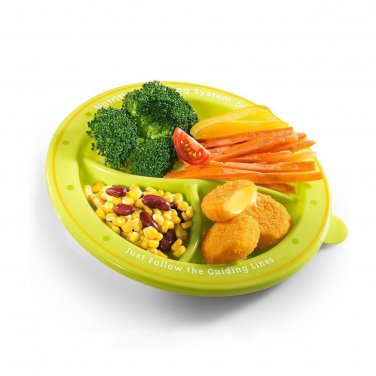 Spanish Show �N Tell Nutrition Start-Right Plate with Snap-Tight Lid & Utensils (Set 1, 4pcs)