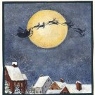 8  SANTA FLIES PAST THE MOON   Lang Stickers