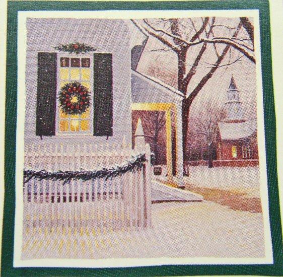 8 CHRISTMAS Wreath CHURCH Churches FAITH Lang Stickers