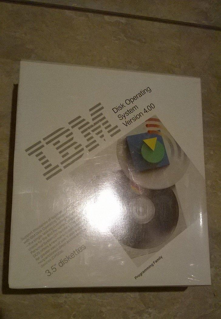 IBM PC DOS DISK OPERATING SYSTEM VERSION 4.00 4.0 BRAND NEW/SEALED