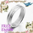 Men Women Silver Wedding Engagement Anniversary Bands Titanium Rings 4mm Sz4-9