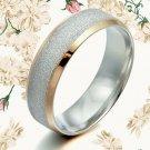 US Men Women 18K Gold Filled Titanium Wedding ring AB008