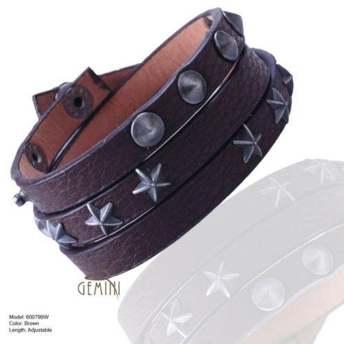 BUY 1 GET 1 FREE Pair Men Women Wrap Leather Wristband Bracelets MKUS79-88B1