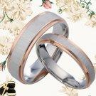 18K Rose Gold Matching Wedding Rings 082