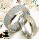 Gold Matching Wedding Bands Titanium Rings 008