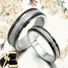 His Her Black Matching Wedding Titanium Rings 010