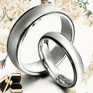 Groom&Bride Black Wedding Titanium Ring Set 053