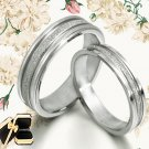 His and Her Matching Wedding Bands Titanium Ring Set 016