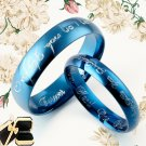 His and Her Matching Blue Wedding Rings 081