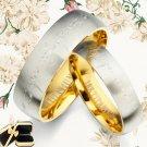 Men Women Gold Wedding Titanium Rings 089